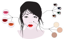 The girls face with makeup Royalty Free Stock Photo