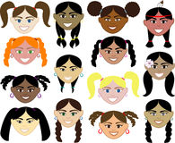 Girls Faces Royalty Free Stock Images