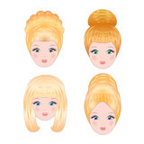 Girls faces Royalty Free Stock Photography