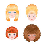 Girls faces Stock Image