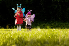 Girls with fairy wings Royalty Free Stock Images
