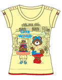 Girls Fancy Printed Fashion Tops Illustration with print Royalty Free Stock Photography