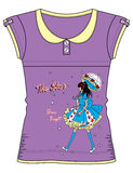 Girls Fancy Printed Fashion Tops Illustration with print Stock Photo