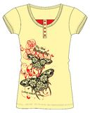 Girls Fancy Printed Fashion Tops Illustration with print Royalty Free Stock Image