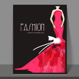 Girls fashion flyer, banner or template design. Stock Photography