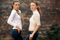 Girls is in fashion style, glamur stock image