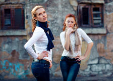 Girls is in fashion style, glamur stock photography