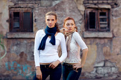 Girls is in fashion style, glamur stock images