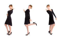 Girls fashionable sketch. Emotions and expressions for person Royalty Free Stock Photo