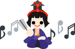 Girls Festival Five musicians(singer holding fun) Royalty Free Stock Photography