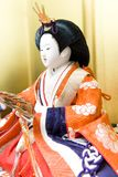 Girls' festival image. A Japanese traditional female doll stock image
