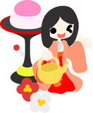 Girls Festival in Japan -Court lady- Stock Image