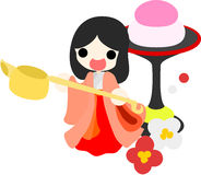 Girls Festival in Japan -Court lady- Stock Photography