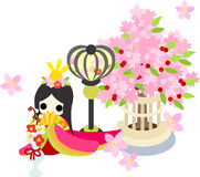 Girls Festival in Japan -The Empress-. Japanese celebrate the Girls' Festival on March 3. It's the day to pray for healthy growth and happiness for young girls Royalty Free Stock Photo