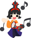 Girls Festival in Japan Musician(small drum)- Royalty Free Stock Photography