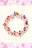 Girls Festival in Japan -The wreath of Girls festival in Japan-. Japanese celebrate the Girls' Festival on March 3. It's the day to pray for healthy growth and Royalty Free Stock Images