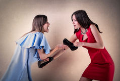Girls fighting Stock Photography