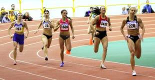 Girls on the finish Stock Photo