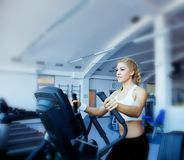 Girls in fitness center Stock Photography