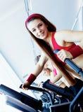 Girls in fitness center Stock Photo