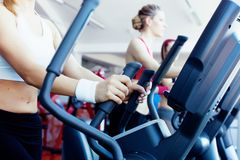 Girls in fitness center Stock Image