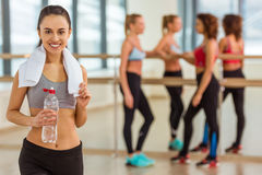 Girls in fitness class Stock Photos