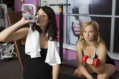 Girls in fitness club Stock Photos