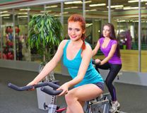 Girls in fitness club Royalty Free Stock Photos