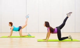 Girls in fitness club Royalty Free Stock Photography
