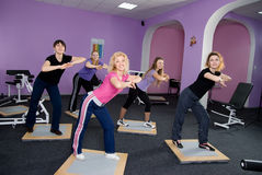 Girls in the fitness room Royalty Free Stock Image