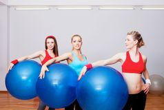 Girls on fitness training Stock Image