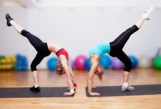 Girls on fitness training Royalty Free Stock Image