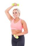 Girl�s fitness training Stock Images