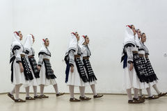Girls in folk costumes Stock Photography