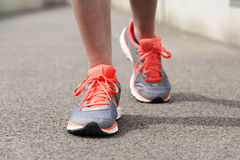 Girls foot with shoe for running Royalty Free Stock Photo