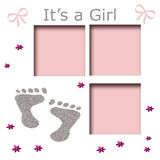 Girls footprints illustration Royalty Free Stock Images