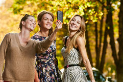 Girls Friends making selfie Royalty Free Stock Image