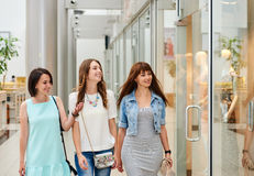 Girls Friends out shopping Royalty Free Stock Photo