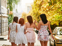 Girls Friends walk Royalty Free Stock Photo