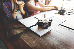 Girls Friendship Hangout Traveling Holiday Photography Concept Royalty Free Stock Photos