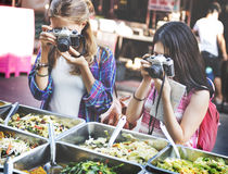 Girls Friendship Hangout Traveling Holiday Photography Concept Stock Photo