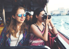 Girls Friendship Hangout Traveling Holiday Photography Concept Royalty Free Stock Image