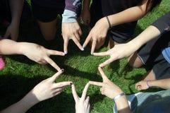 Girls Friendship Star Royalty Free Stock Photo