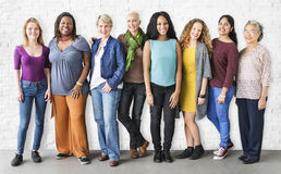 Girls Friendship Togetherness Community Concept. Diverse Women Togetherness Community Concept royalty free stock image