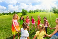 Girls only games Royalty Free Stock Photos