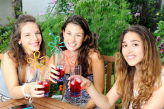 Girls in the garden Stock Photo