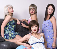 Girls gather at a party Royalty Free Stock Images