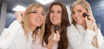 Girls getting ready Stock Photos