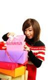 Girls gift Stock Image