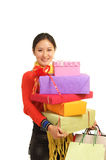 Girls gift Stock Photo